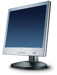 "Monitor 17"" BELINEA LCD 101735, analog/digit., audio, black-silver - 0.27 mm, 1280x1024,300 cd/m3, 500:1, 150°/135°, rise/fall 3/10 ms, h/v 31-80kHz / 56-75Hz, bandwidth 135 MHz, TCO 99"
