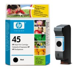 Ink.cartridge HP51645A, black, 42ml, Nr.45 - black, c. 830 pages with 5% sheathing, for printers DJ-710C/ 720C/ 8xxC/ 9xxC/ 11xxC/ 1220C/ 1600C