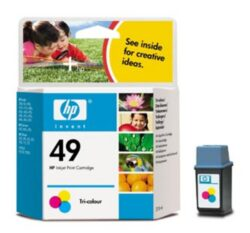 Ink.cartridge HP51649A, color, 22.8ml, Nr.49 - color, c. 350 pages with 15% sheathing, for DJ-350C/6xxC, DW-660C, OfficeJet-7xx