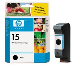 Ink.cartridge HPC6615DE, black, 25ml, Nr.15 - black, c. 660 pages with 5% sheathing, for DJ-810/840/843/845/920/940/3820, OfficeJet V40/5110, PSC 500/750/950