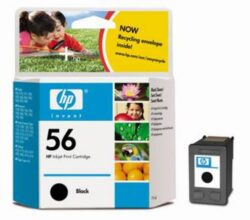 Ink.cartridge HPC6656AE, black, 19ml, Nr.56 - black, c. 450 pages with 5% sheathing, DJ 450C/5550, PSC 2100, PhotoSmart 700/7150/7345/7350/7550, Office Jet 4110/6110