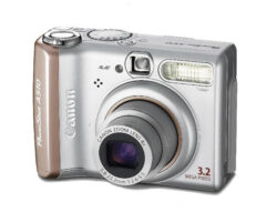 Digital camera Canon PowerShot A510 - CCD, 3.2 mpx, 4x optic.ZOOM, CZ menu, 1.8 LCD, metal chassis, PictBridge, Print/Share buttons, for SD/MMC cards,2x AA