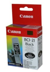Ink.cartridge CANON BCI-21Bk, black - black, c. 100 pages with 5% sheathing, for S100, BJC2100/2200/4000/4100/4200/4300/4400/4550/ 4650/5000 /5100/5500