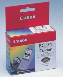 Ink.cartridge CANON BCI-24Cl, color-color, c. 170 pages with 5% sheathing, for S200/S300/S330, i250/i320/i350/i450,i455i470D, MPC190/200P/ 360/370