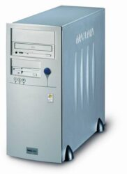 Computer MAXDATA Favorit 1000I-Intel Celeron 3 GHz, RAM 256MB, HD 80B, VGA+LAN on board, CD-RW, FaxM 56, Miditower, Windows XP Home OEM